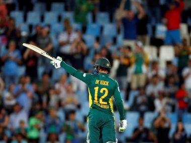 South Africa's Quinton de Kock celebrates. Reuters