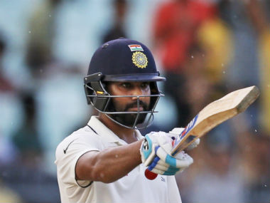 Rohit Sharma scored 82 from 132 balls to put India in command on Day 3. AP