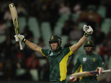 South Africa's David Miller celebrates his century. AP