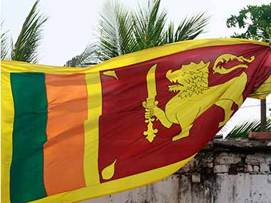 Sri Lankan flag. Reuters.