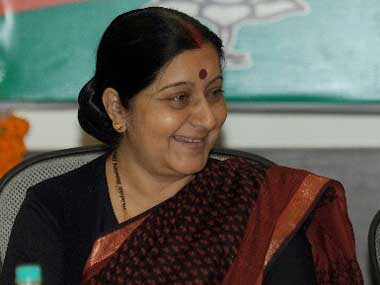 Union Externam Affairs Minister Sushma Swaraj. AFP