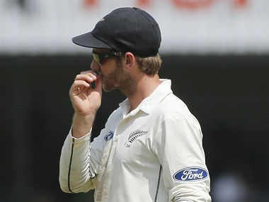 New Zealand captain Kane Williamson in deep thought on day 4 of 3rd Test. AP