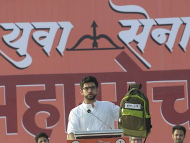 Shiv Sena youth wing chief Aaditya Thackeray attacked the BJP government on the crumbling education sector in Mumbai. Image courtesy: Rajesh Waradkar