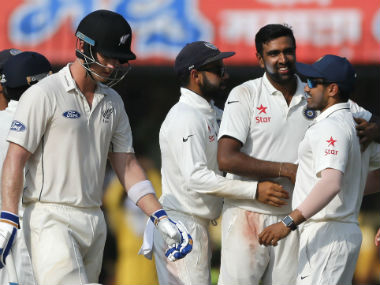 Ravichandran Ashwin was the standout performer in the Test series. AP
