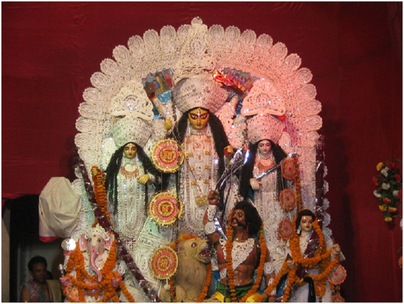 A traditional Durga Puja idol. Image courtesy the author