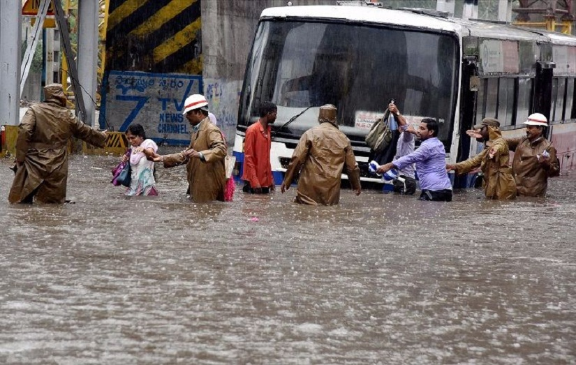 This September, heavy rains caused severe flooding in Hyderabad. Image from PTI