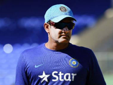 File photo of India coach Anil Kumble. AFP