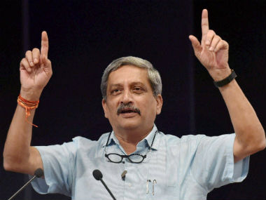 File image of Union defence minister Manohar Parrikar. PTI
