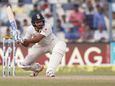 Rohit Sharma in action during the second Test against New Zealand at Eden Gardens . AP