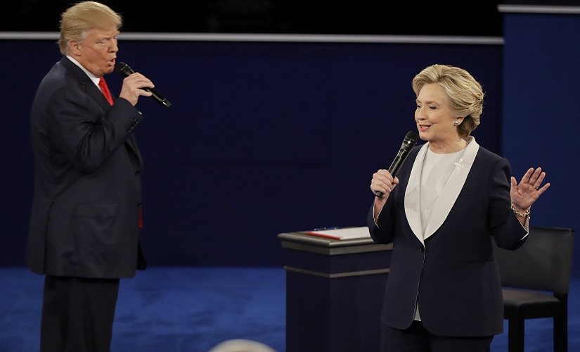The most discordant duet ever? Never mind the same tune, Donald Trump and Hillary Clinton hardly seemed to even be on the same wavelength. AP