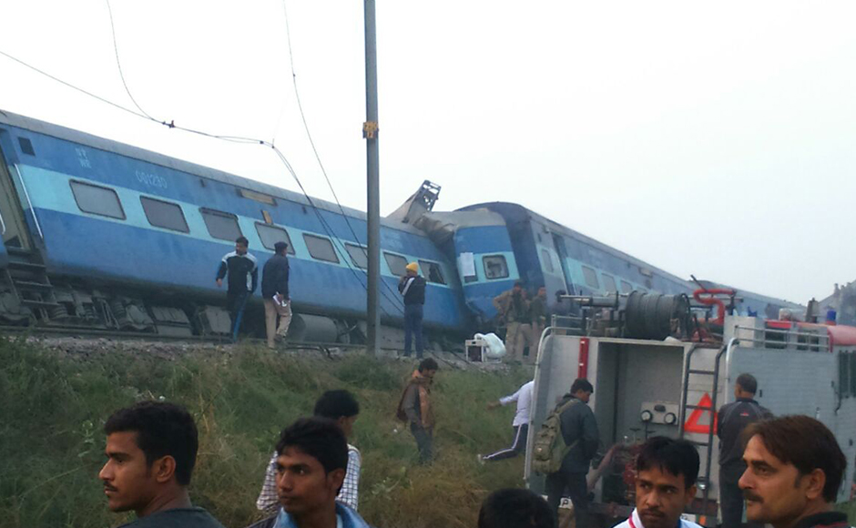 Indore-Patna express train derails in Kanpur; over 100 dead