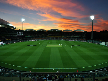 The Adelaide oval during the evening session of the 3rd Test between Australia and South Africa. AFP