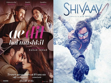 Ae Dil Hai Mushkil has pulled ahead of Shivaay in their box office battle