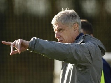 Arsenal manager Arsene Wenger during a training session. Reuters