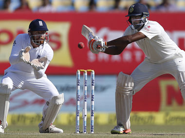 Ravichandran Ashwin sparkled for India with the bat. AP