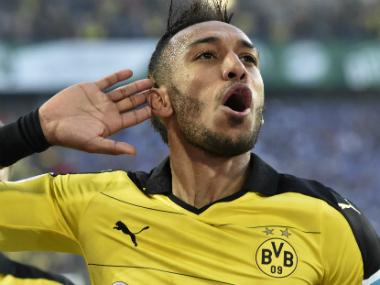 File image of Borussia Dortmund's star striker Pierre-Emerick Aubameyang. AP