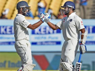 Murali Vijay and Cheteshwar Pujara have now been involved in six century partnerships. PTI
