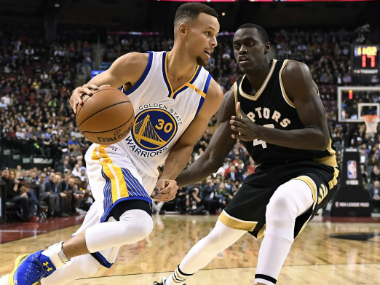 Golden State Warriors' Stephen Curry during the match against the Toronto Raptors. AP