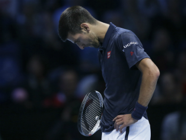 Djokovic was visibly upset when things weren't going his way during his match against Dominic Thiem. AP