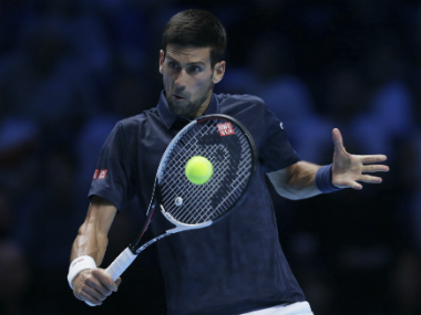 ATP Finals Novak Djokovic survives scare against Dominic Thiem Milos Raonic beats Gael Monfis