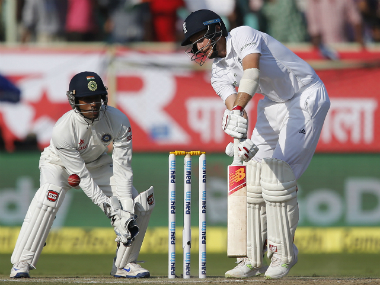 England's Joe Root plays a shot. AP