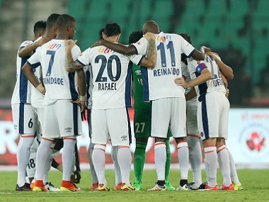 Last year's beaten finalists FC Goa find themselves bottom of the pile. Image courtesy: ISL