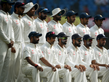 The India Test Team. AFP