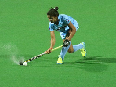 File image from India's match against China. Image credit: Twitter/TheHockeyIndia