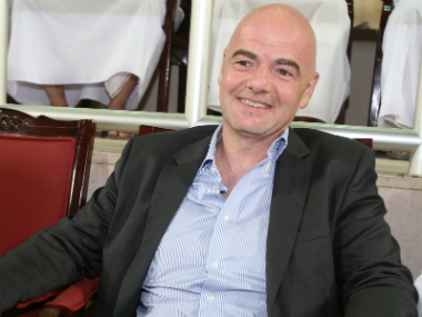 File image of Gianni Infantino. AFP
