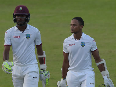 Kraigg Brathwaite and Shane Dowrich shared an unbeaten 47-run stand for the sixth wicket at the end of Day 4. AFP