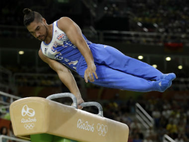 Louis Smith in action during the recently-concluded Rio Olympics. AP