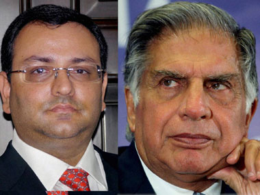 Cyrus Mistry (left), ousted chairman of Tata Sons and Ratan Tata, incumbent Chairman, Tata Sons