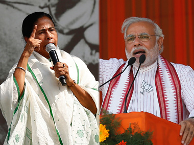 Mamata Banerjee and Narendra Modi. Reuters