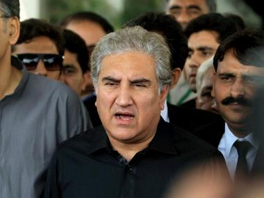 Shah Mehmood Qureshi, a senior leader of opposition party Pakistan Tehreek-e-Insaf (PTI). Reuters