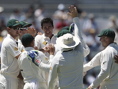 Mitch Starc took quick wickets on Saturday to bring Australia back into the match. AP