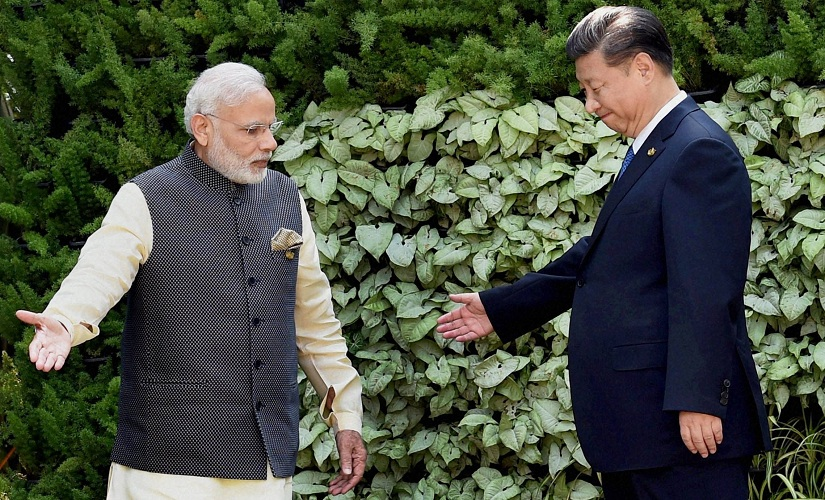 Prime Minister Narendra Modi with Chinese President Xi Jinping. PTI