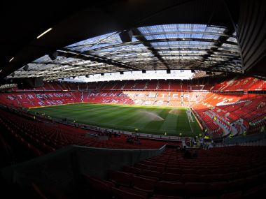 A view of Manchester United's Old Trafford stadium. Reuters