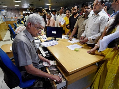 Huge crowds were scene at banks across India as people rushed to exchange their demonetised currency. PTI