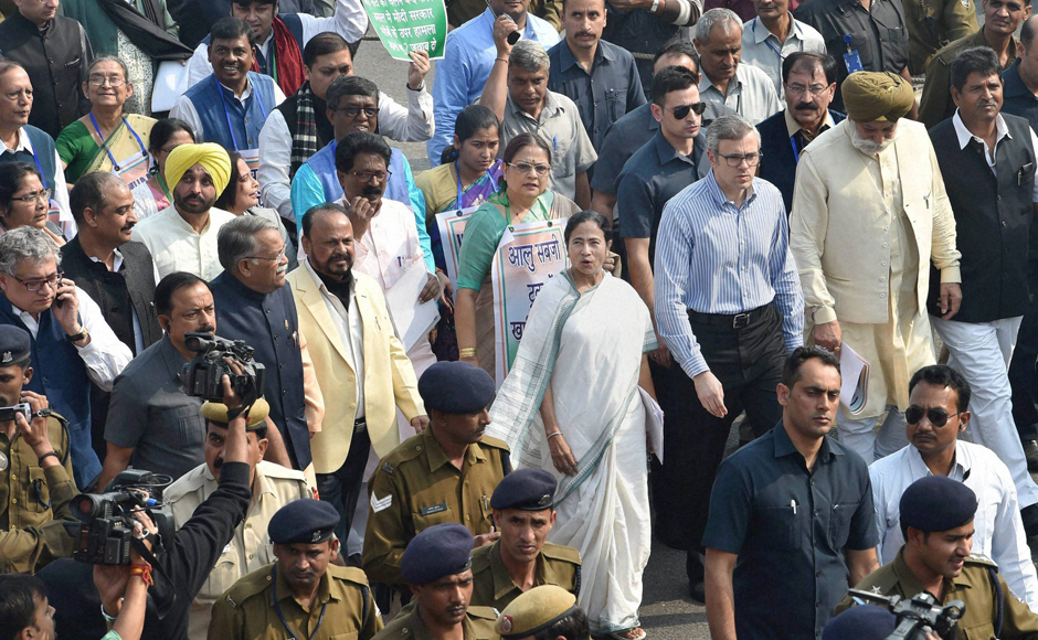 """""""We had a successful meeting with the President during which we discussed the issue. And the President said he would look into the matter,"""" Bengal CM said, after emerging out of the Rashtrapati Bhawan. She said the situation arising out of demonitisation has triggered a sort of constitutional crisis. (Photo: PTI)"""