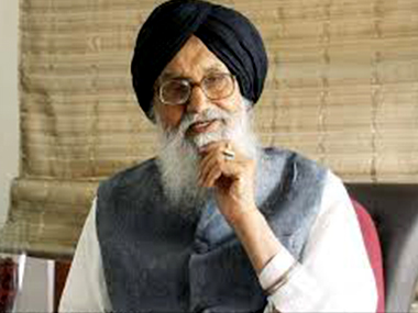 File photo of Parkash Singh Badal. PTI
