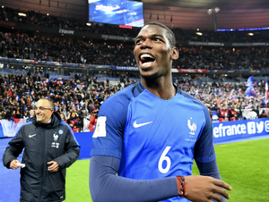 Paul Pogba's goal helped France secure a 2-1 win over Sweden. AFP