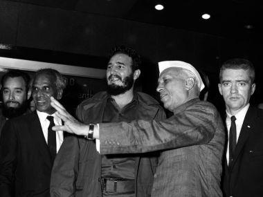 File image of Fidel Castro and Jawaharal Nehru. Reuters