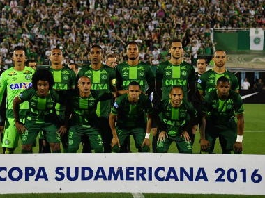 File photo of the Chapecoense Real players. AFP