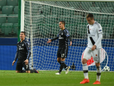 Real Madrid squandered an early lead to draw 3-3 against Legia Warsaw. AFP