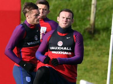 Rooney in England's training session. AFP