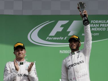 Mercedes driver Nico Rosberg and Lewis Hamilton are locked in the title race. Reuters