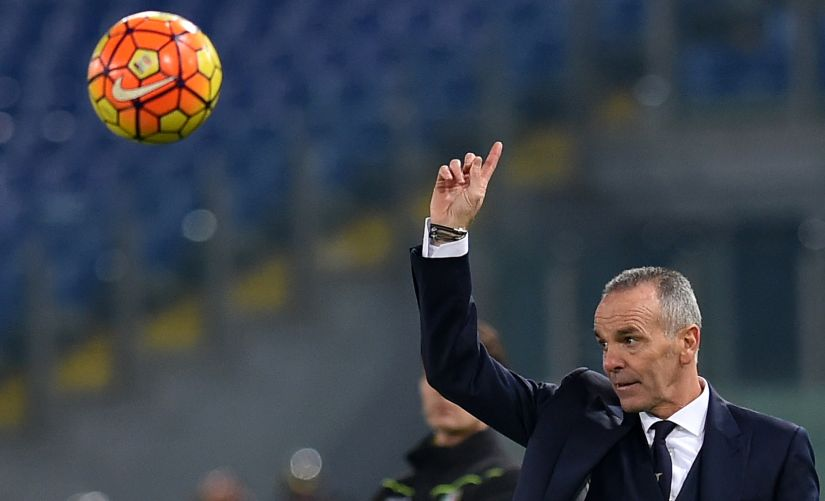 Manager Stefano Pioli will make his debut on the Inter bench against AC Milan. AFP