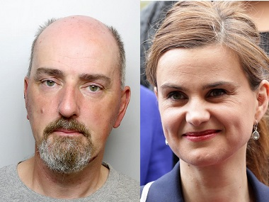 File image of Thomas Mair (left) and Jo Cox (right). Courtesy: Agencies