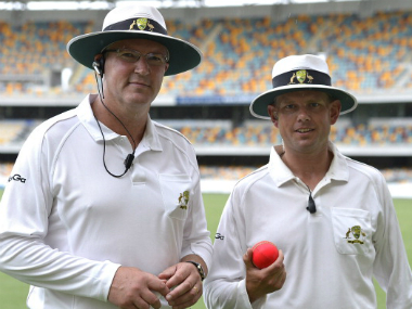 File image of umpire Sam Nogajski (R). Getty images