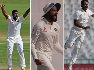 Ravichandran Ashwin, Ravindra Jadeja and Jayant Yadav impressed in the third Test at Mohali. Reuters